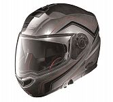 Nolan N104 Absolute N-Com Flip Face Helmet - scratched chrome