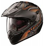 X-Lite X551 GT Adventure Helmet - flat black/orange