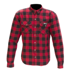 Merlin Axe Checkered Shirt - red
