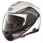 Nolan N104 Absolute N-Com Flip Face Helmet - white/black