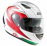 ** Givi H402 GT Sport Touring Helmet -white/red/green - Sale