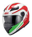 ** Givi H504 Full Face Helmet - white/red/green - SALE