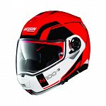N100-5 N-Com Flip Face Helmet - red/white