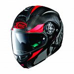 X-Lite X1004 Ultra Carbon Flip Face Helmet - carbon/red