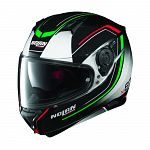 Nolan N87 Full Face Helmet - black/white/red/green