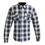 Merlin Axe Checkered Shirt - blue