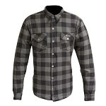 Merlin Axe Checkered Shirt - grey