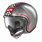 Nolan N21 Scooter Helmet - scratched chrome